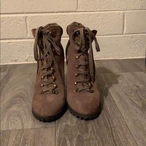 Jessica Simpson Baxter Lace-Up Bootie Heel